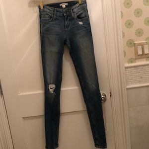alice and olivia ripped skinny jeans